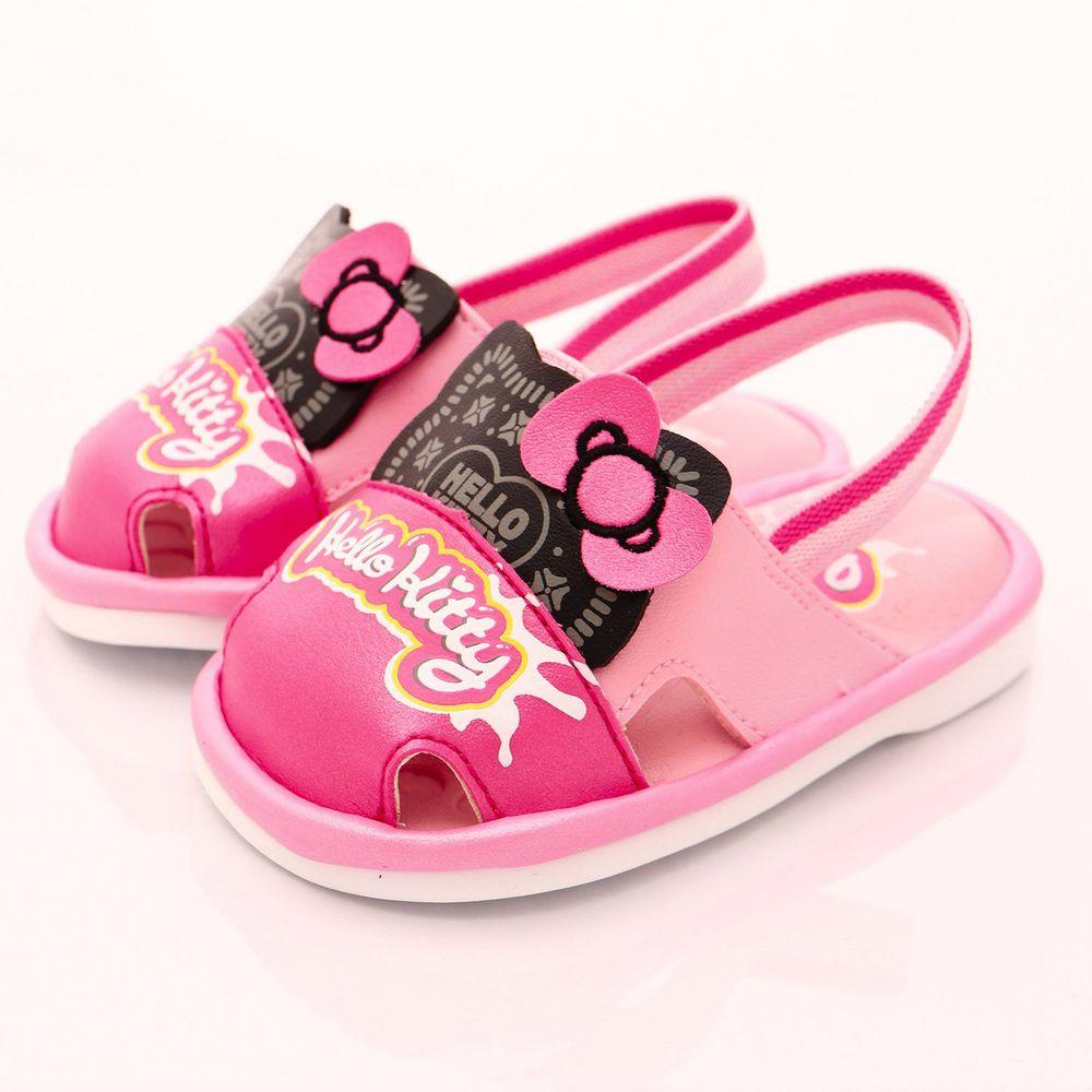 HELLO KITTY - 凱蒂卡通童鞋-餅乾造型BIBI鞋款(寶寶段)-粉