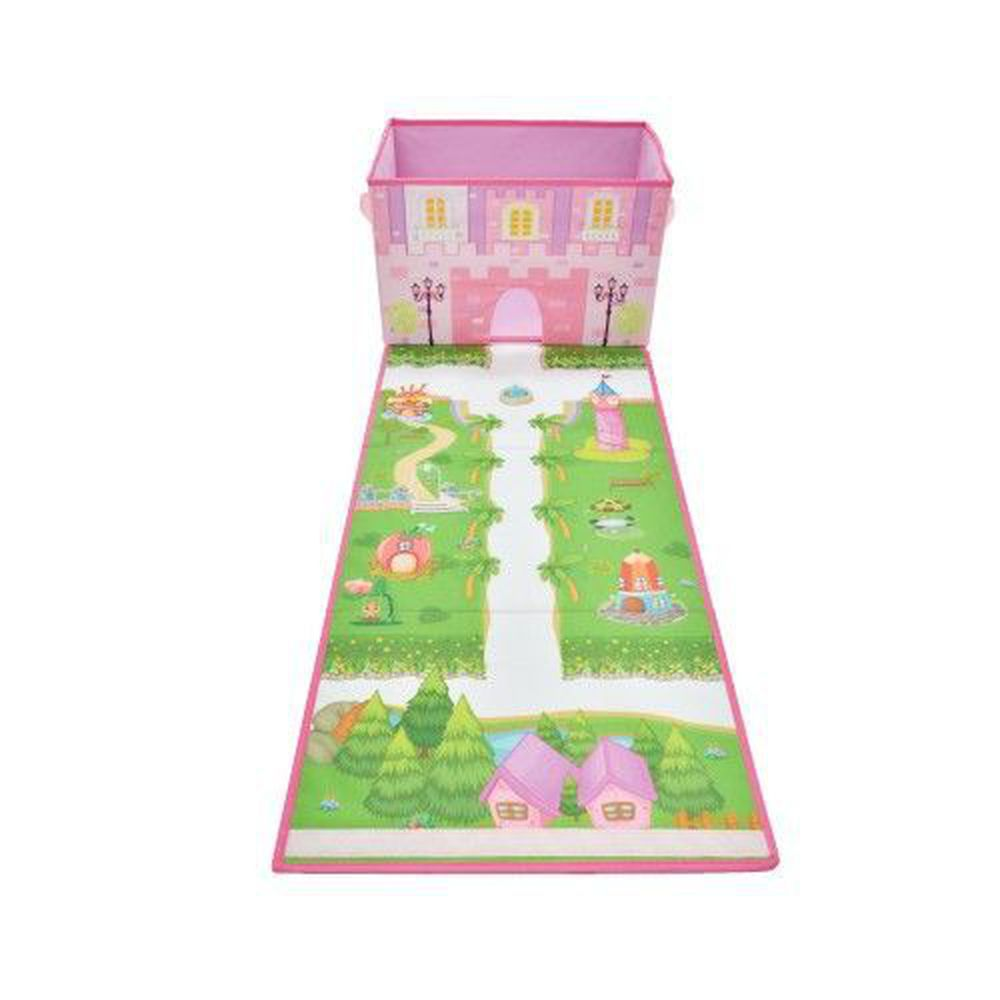 日本 U-COMPANY - 遊戲背景玩具折疊收納箱-城堡花園