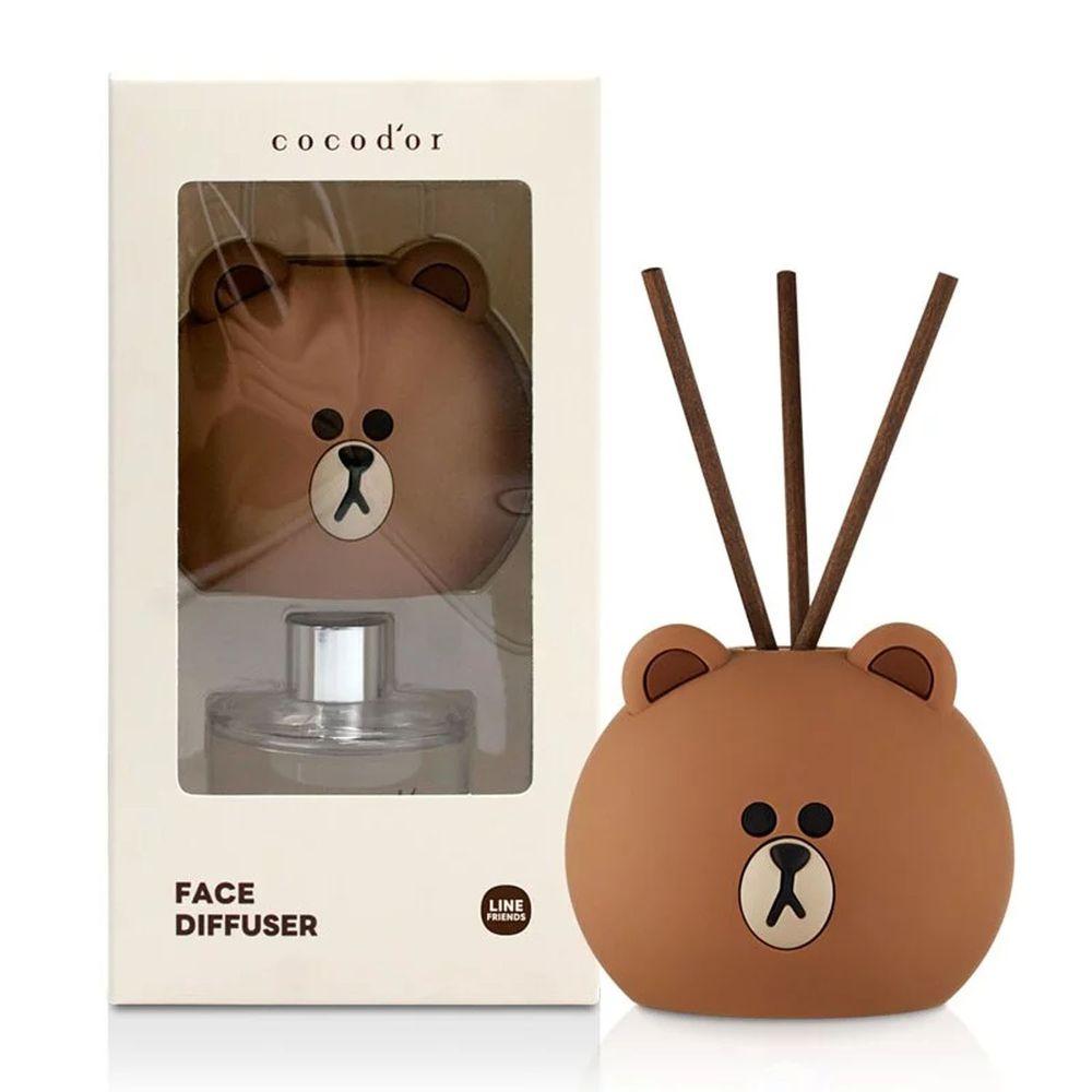 韓國 cocodor - BROWN & FRIENDS造型系列擴香瓶-熊大(榛果拿鐵)-50ml