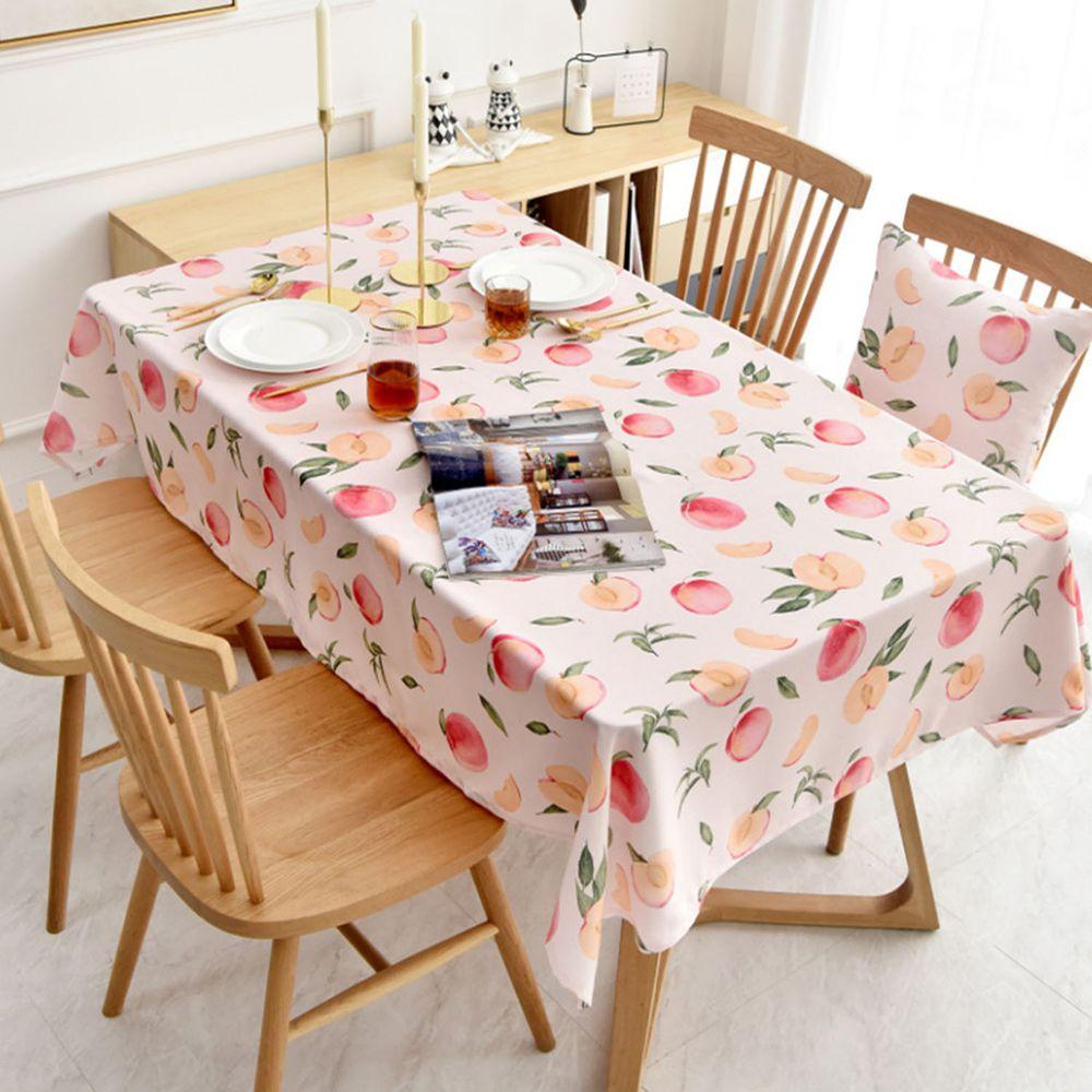 防水防油免洗桌布-水蜜桃-粉色