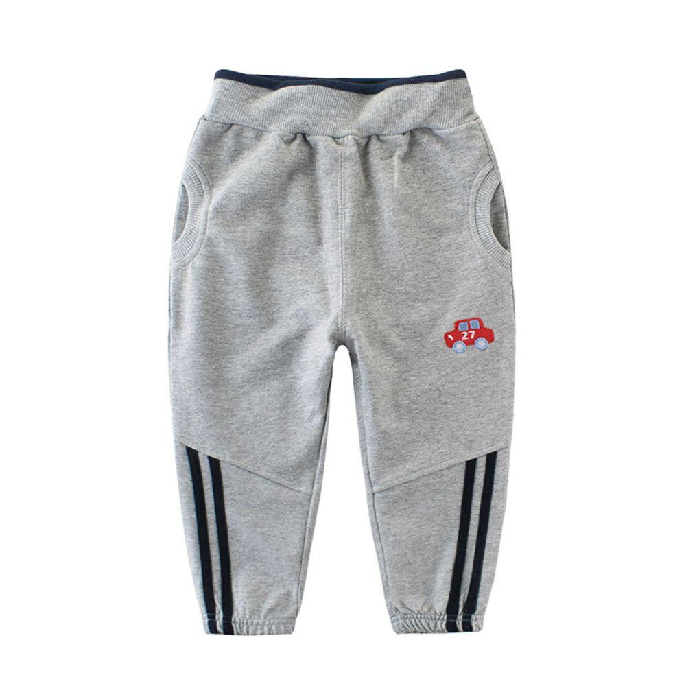 純棉長褲-27號小車-灰色