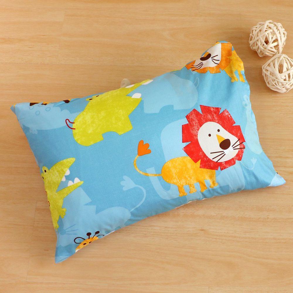 鴻宇HONGYEW - 防螨抗菌100%美國棉兒童纖維枕-快樂獅子-1836