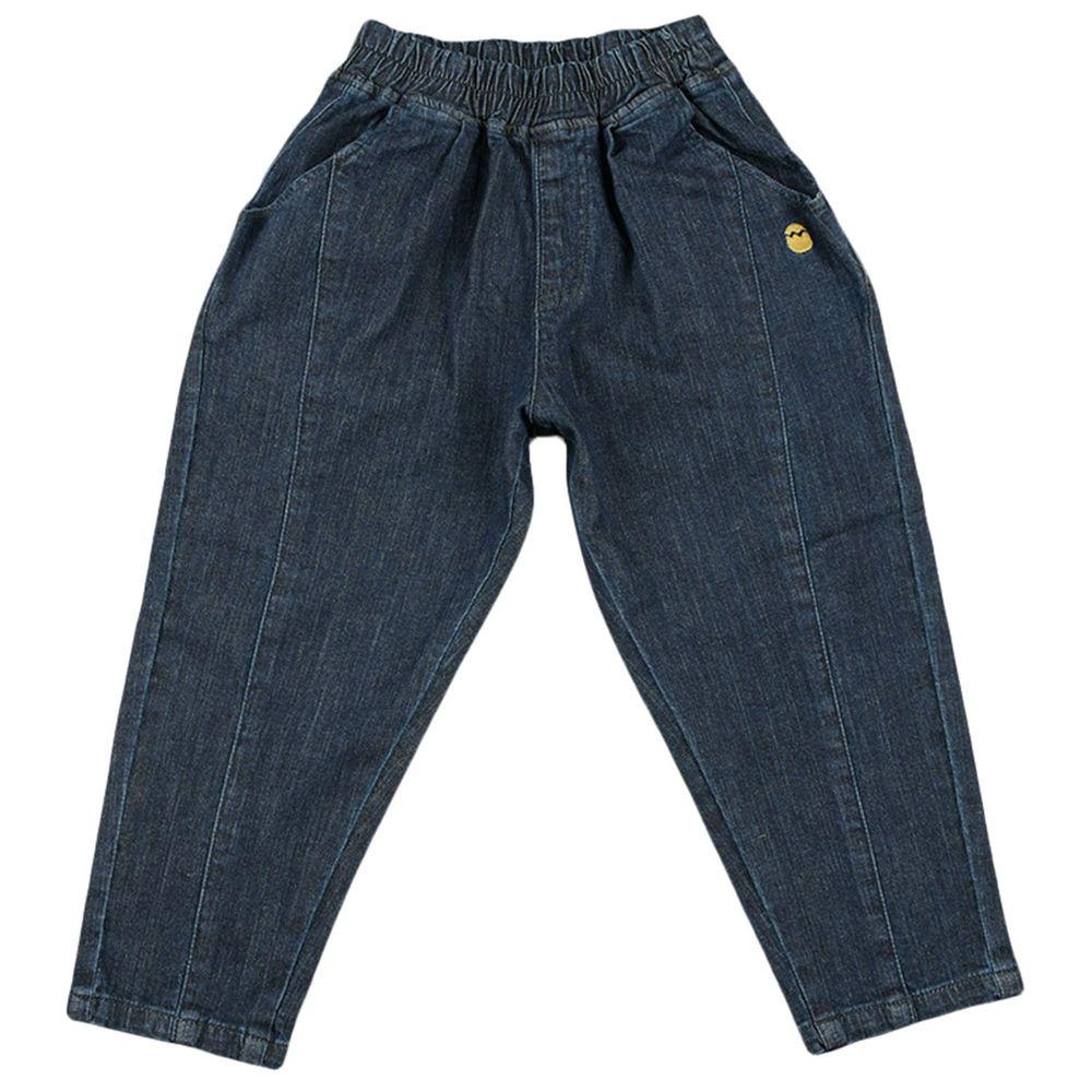 akachan honpo - 平織長褲-荷包蛋-深藍色