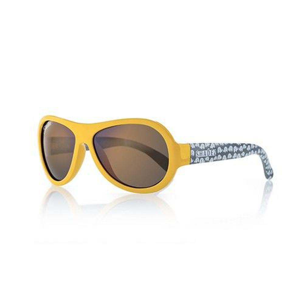 SHADEZ - 可彎折嬰幼兒時尚太陽眼鏡-黃黑大象 (0Y~3Y)