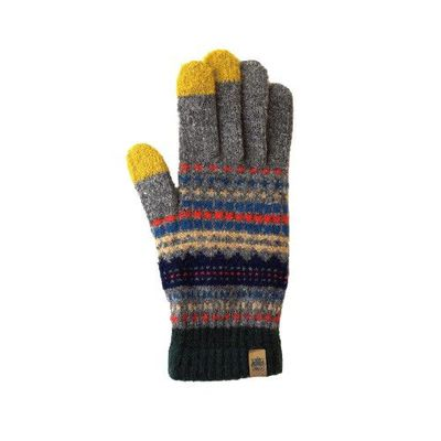 日本製可觸控式保暖手套-大人款-灰圖騰