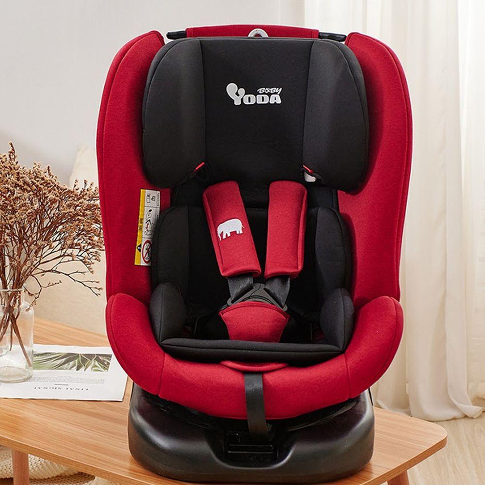 YODA - ISOFIX-全階段360度汽車安全座椅-0~12歲-典雅紅