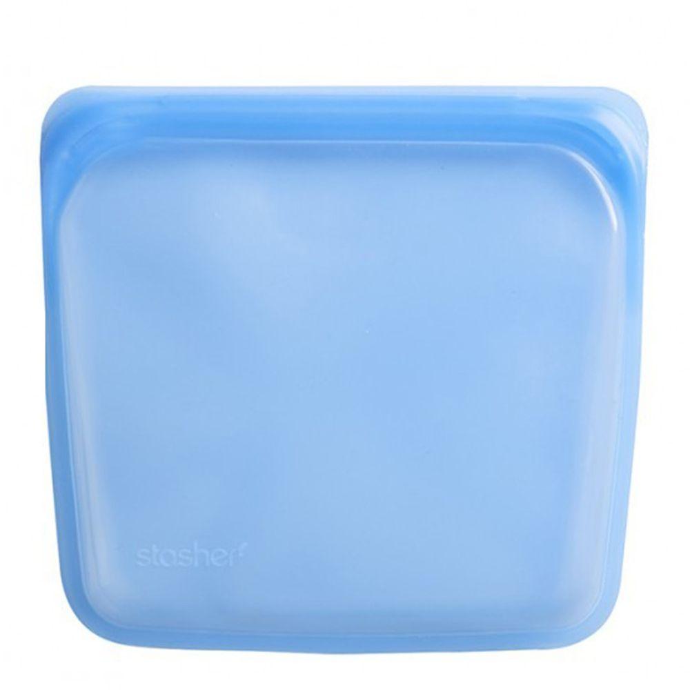 Stasher - 食品級白金矽膠密封食物袋-Sandwich方形-藍寶石 (443ml)