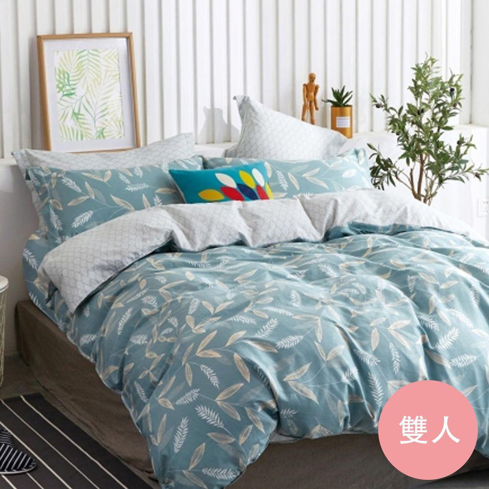 PureOne - 極致純棉寢具組-易暖時光-雙人四件式床包被套組