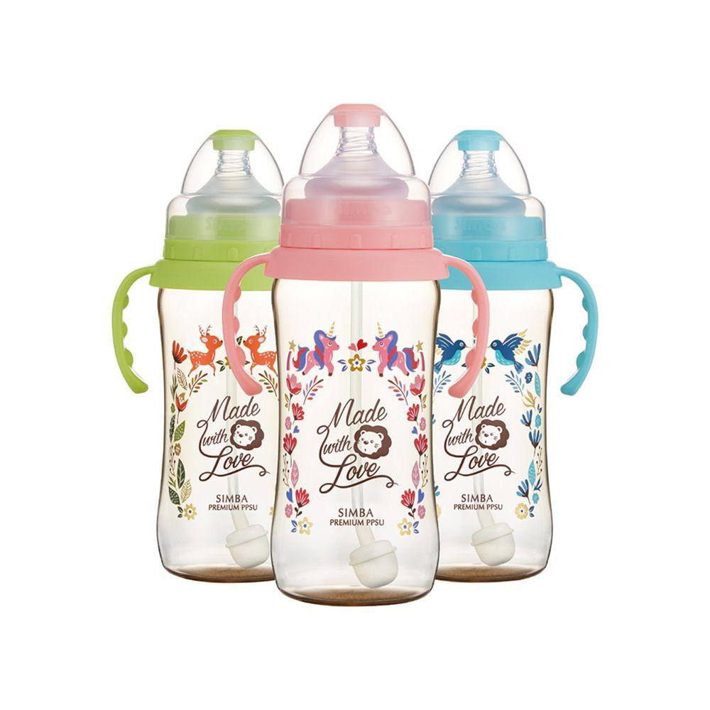 Simba 小獅王辛巴 - 桃樂絲PPSU自動把手寬口葫蘆大奶瓶-3支組(360ml)-自動把手 - 均色(丘比特+圓舞曲+獨角獸)-三款各1支