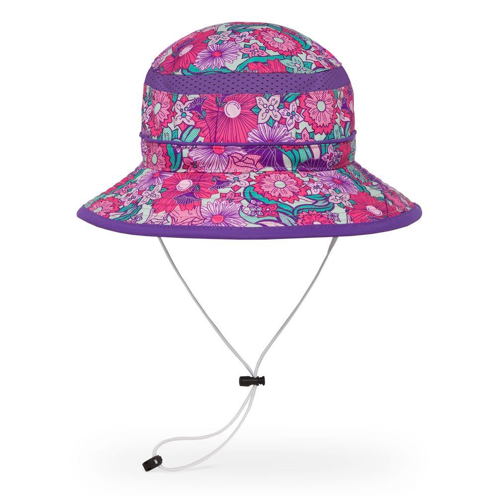 Sunday Afternoons - 兒童防曬帽-兒童抗UV防潑透氣圓桶帽Kids Fun Bucket-繽紛花園 Flower Garden