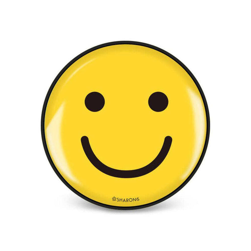 韓國 SHARON6 - 手機氣囊支架-黑色款-笑臉