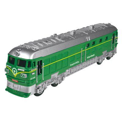 小小鐵道迷-磨輪聲光復古小火車-綠色