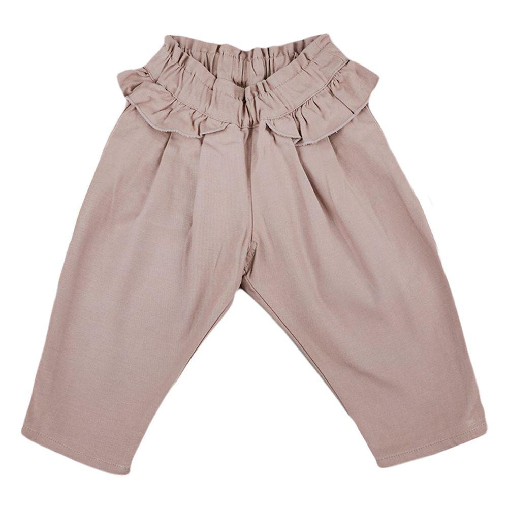 akachan honpo - 長褲-平織-淺卡其色