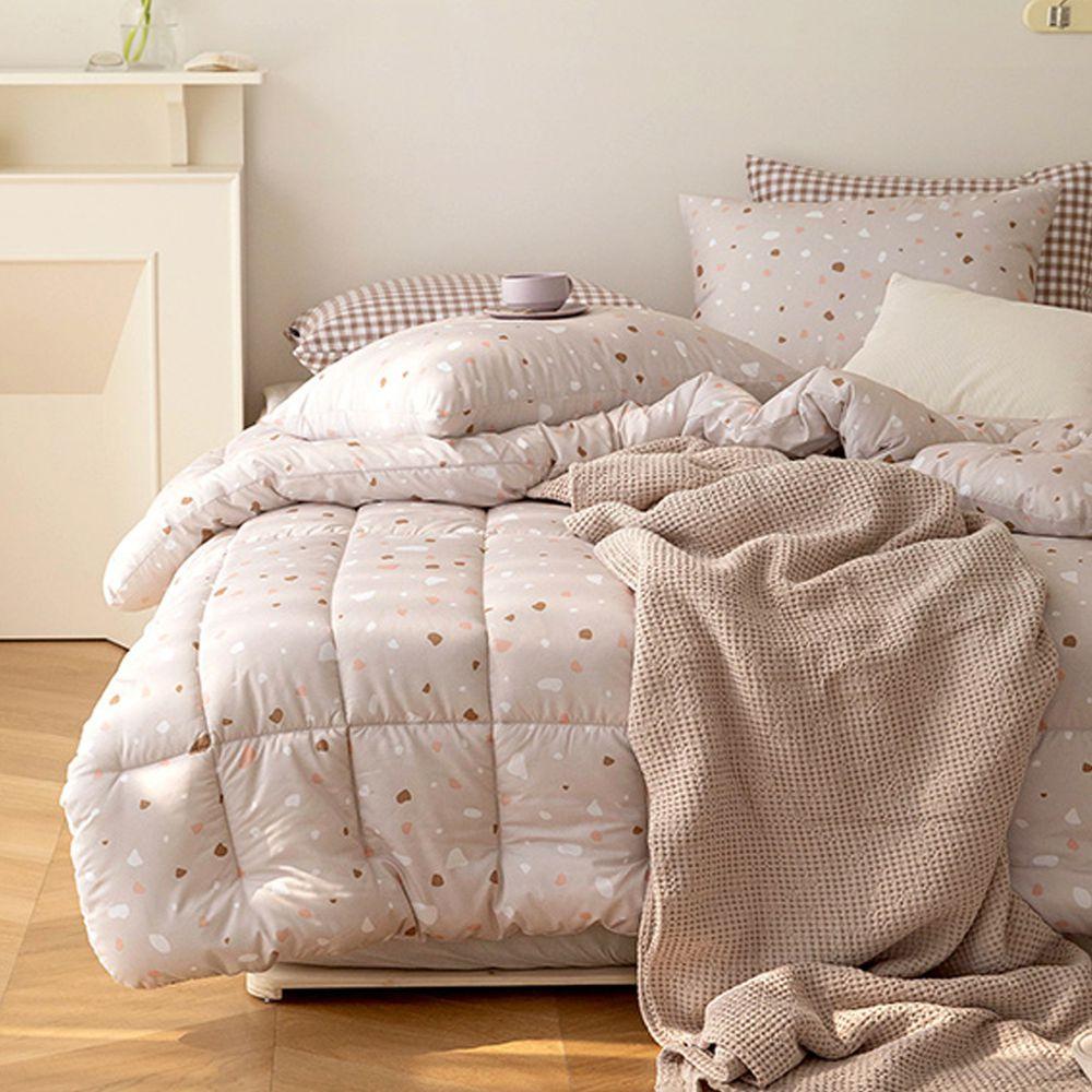 韓國製 - 可水洗超細纖維桃皮感棉被(無枕套)-粉紅隕石