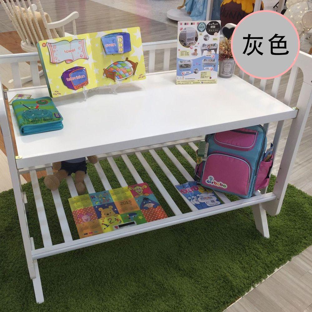 Rockland - 劍橋書桌床-附6公分墊+變書桌-灰色 (120X65)