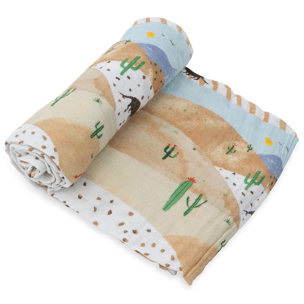 美國 Little Unicorn - 純棉紗布巾單入組-沙漠丘陵 (120x120CM)
