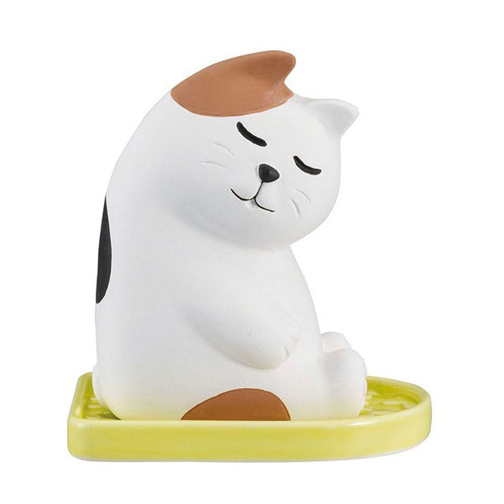 日本 DECOLE - 療癒環保除濕除臭擺飾(可重複使用)-打瞌睡 小貓