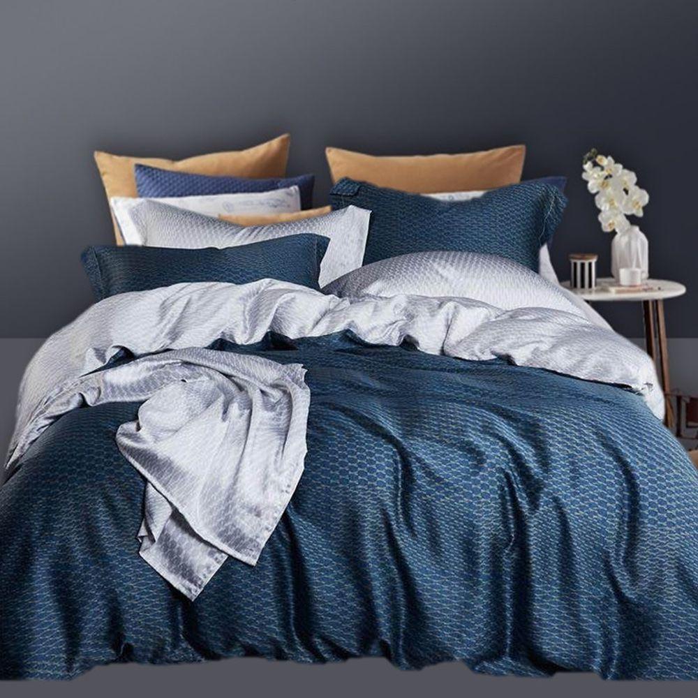 飛航模飾 - 裸睡天絲鋪棉床包組-心跡(雙人鋪棉床包兩用被四件組) (標準雙人 5*6.2尺)
