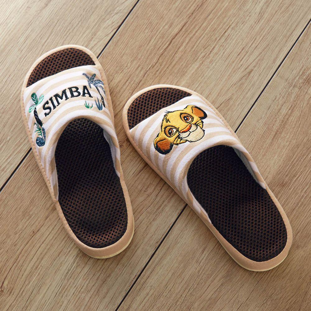 日本千趣會 - 迪士尼刺繡透氣鞋墊室內拖-獅子王-條紋