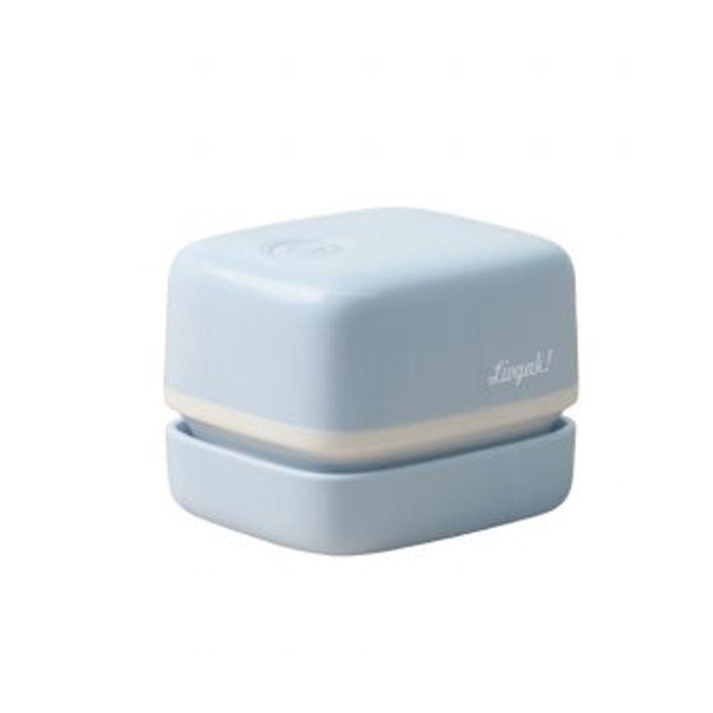 日本文具 SONIC - 電動桌面迷你吸塵器(紙屑/橡皮擦屑)-文青方型-水藍 (mini)-團購專案