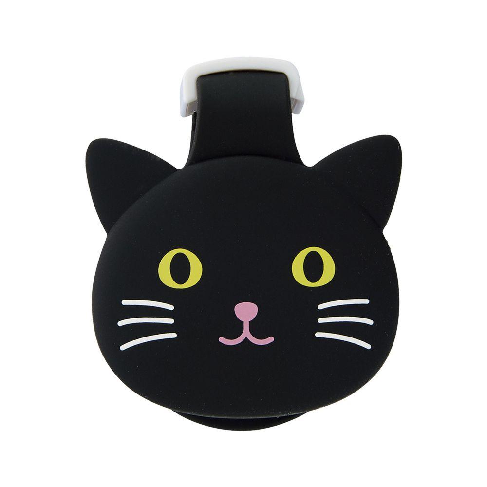 日本文具 LIHIT - 紙膠帶切割器(附磁鐵)-黑貓