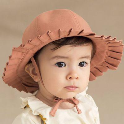 百折綁帶遮陽帽-咖啡橘 (50)