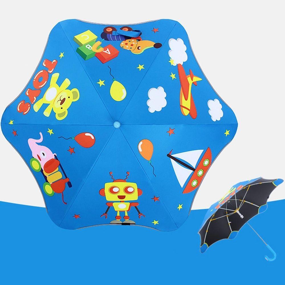 兒童圓角反光雨傘-玩具總動員-藍