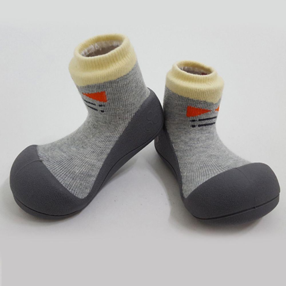 韓國 Attipas - 襪型學步鞋-灰底紳士