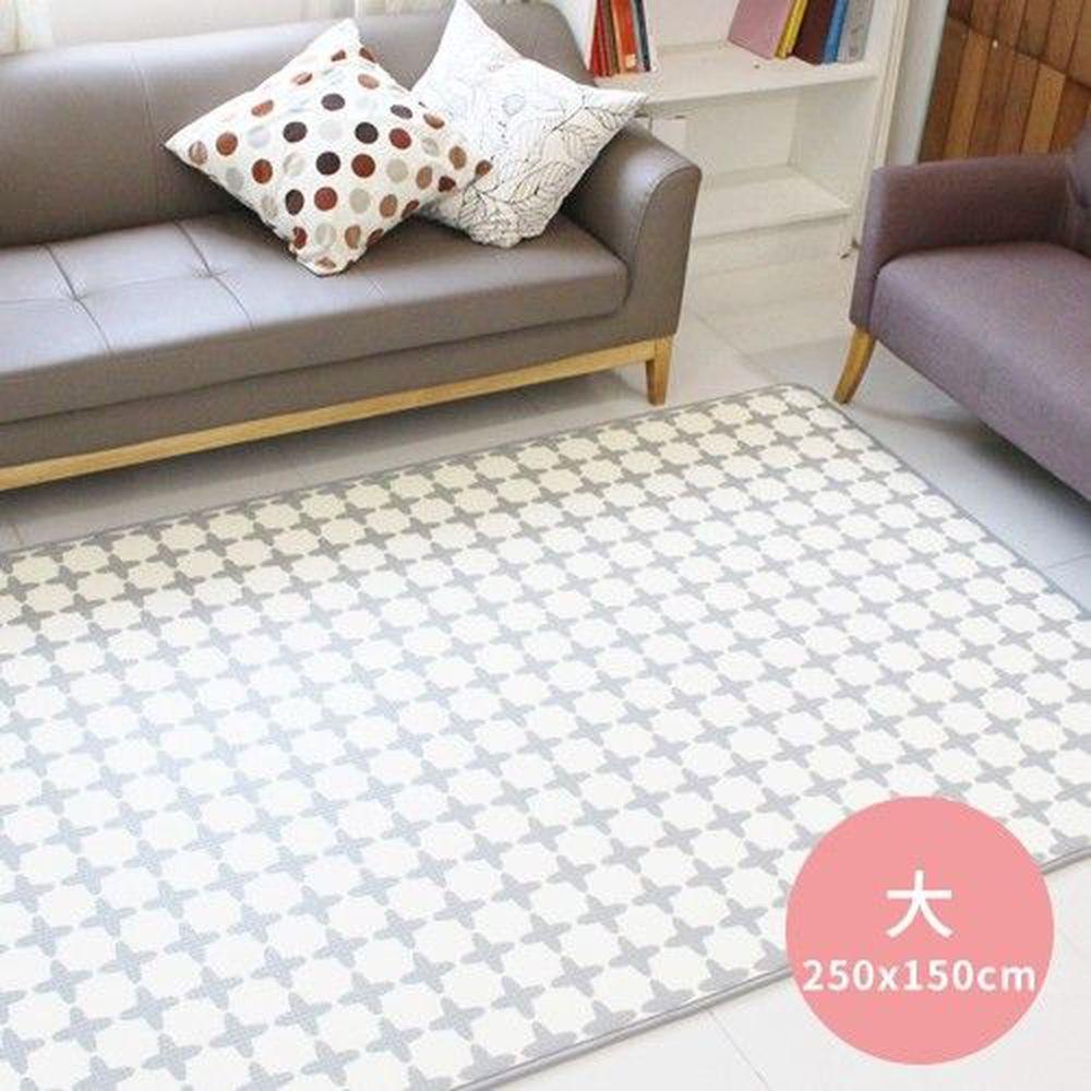 韓國 Foldaway - PE遊戲爬行墊-大-Reyple 灰色幾何 (250x150cm)