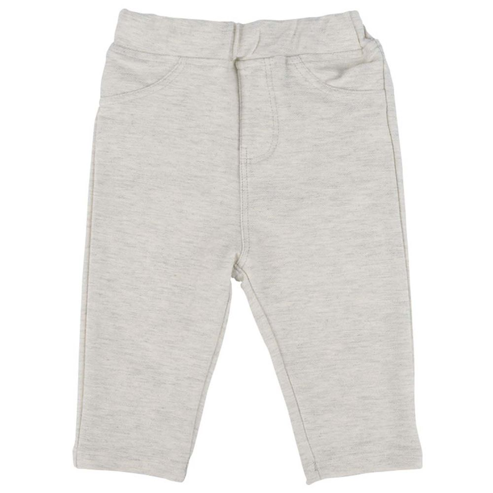 akachan honpo - 女7分彈性緊身褲-象牙白色