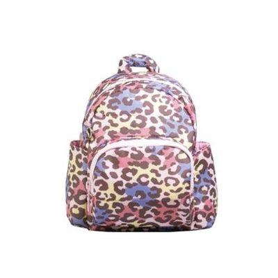 HARU 日本布料-小童背包-KIDS BAG-粉彩豹 (背面為同色布料)