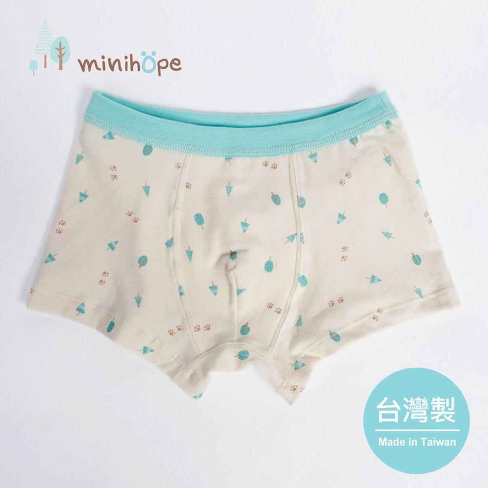 minihope美好的親子生活 - 小小樹林男童四角褲