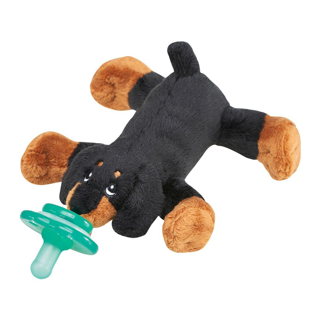 美國 nookums - 寶寶 可愛造型 安撫奶嘴 / 玩偶-臘腸狗