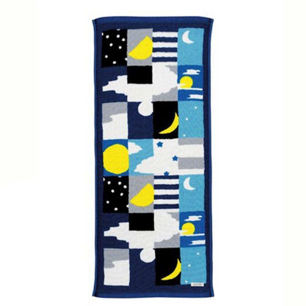 日本代購 - 【SOU·SOU】日本製今治純棉長毛巾-月與星 (34x80cm)
