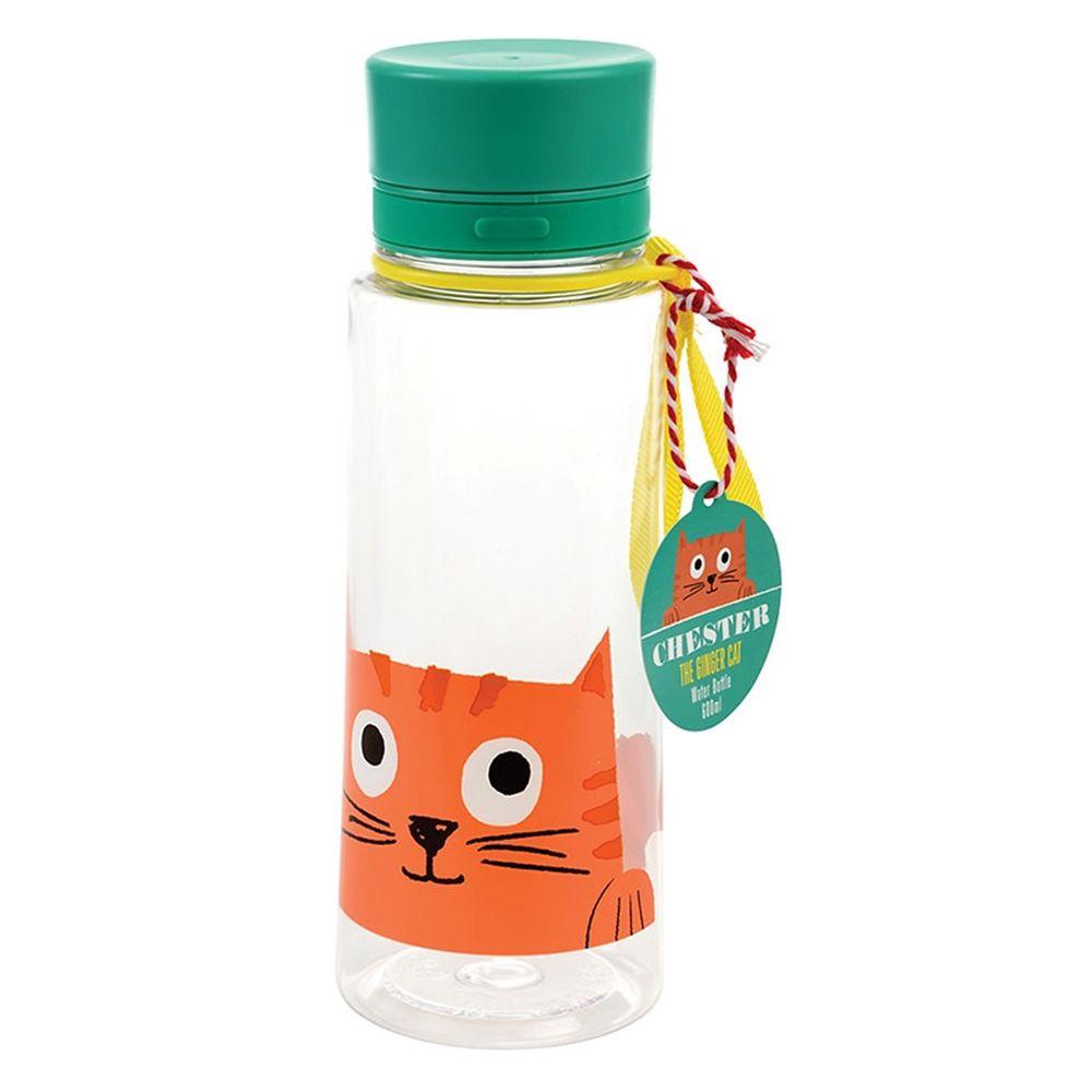 英國 Rex London - 直飲式水瓶(成人/兒童適用)-大眼橘貓(600ML)