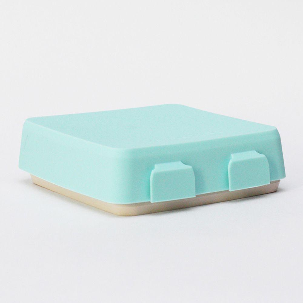 2angels - 矽膠秒扣拼圖隨行餐盤-薄荷拿鐵