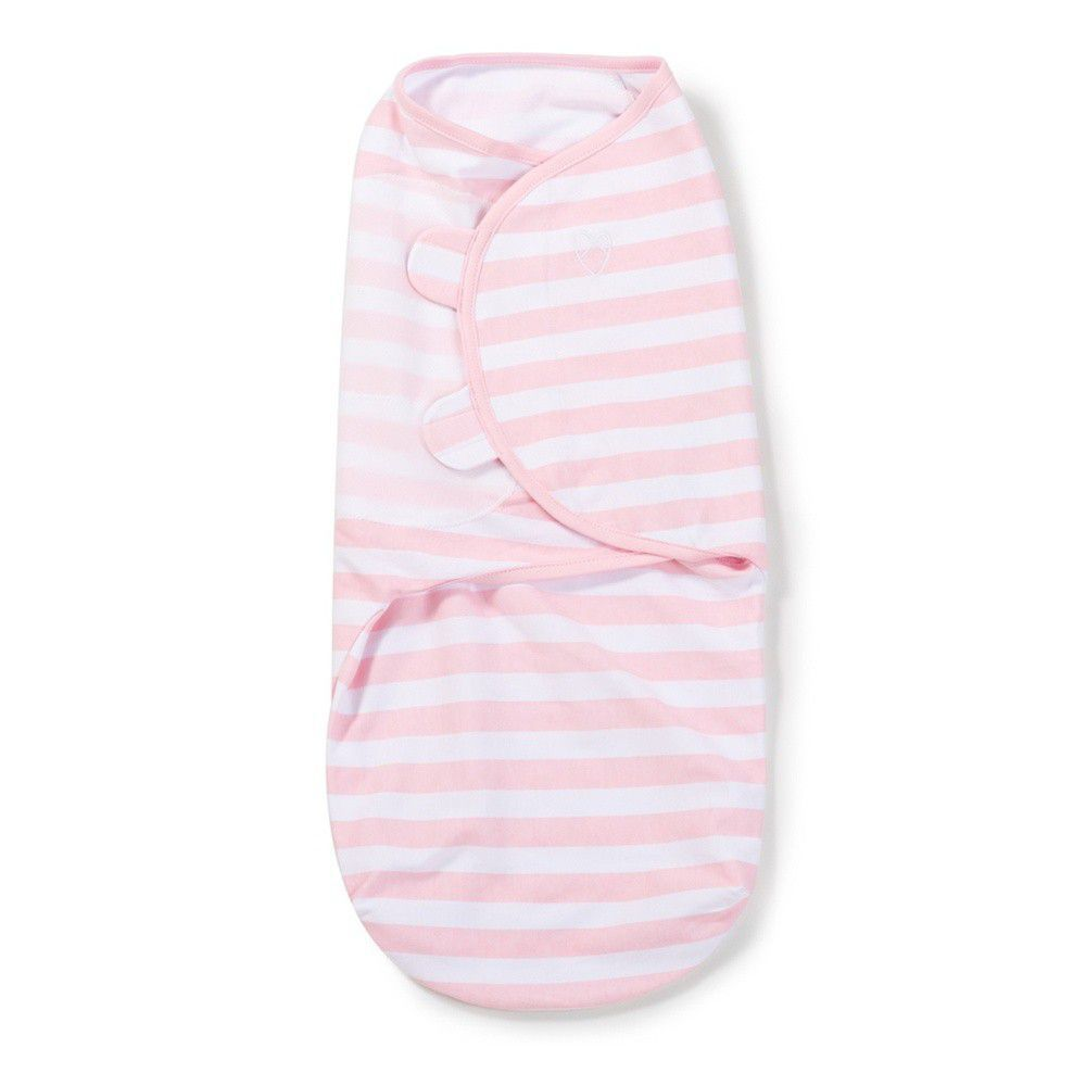 Summer Infant - 聰明懶人育兒包巾-粉嫩條紋-適用年齡:0~3個月