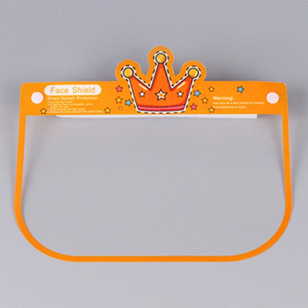 隔離飛沫兒童防護面罩-皇冠-橘黃色 (約26x18.5cm)