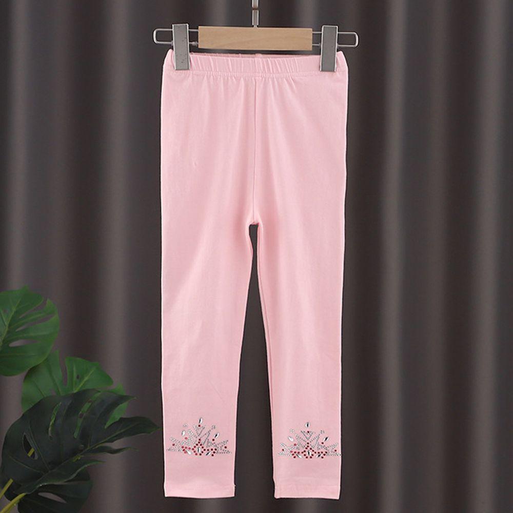 修身造型內搭褲-粉色