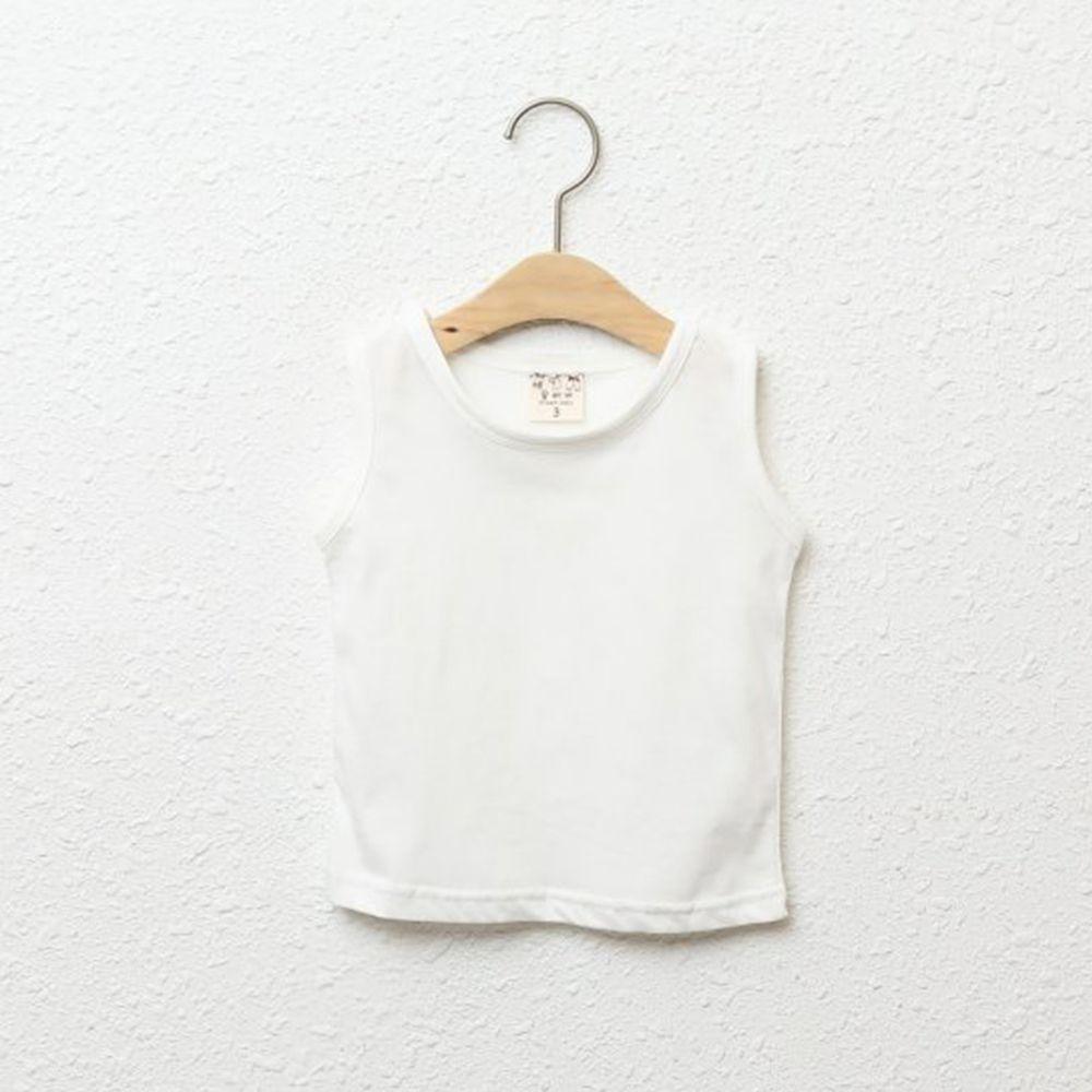 韓國製 - 純棉小背心-白