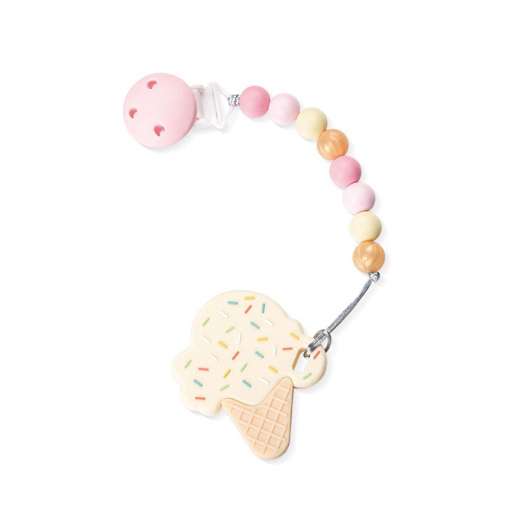 Sweet Little monster - 怪獸寶貝系列 - 固齒器-棉花糖冰淇淋-香草