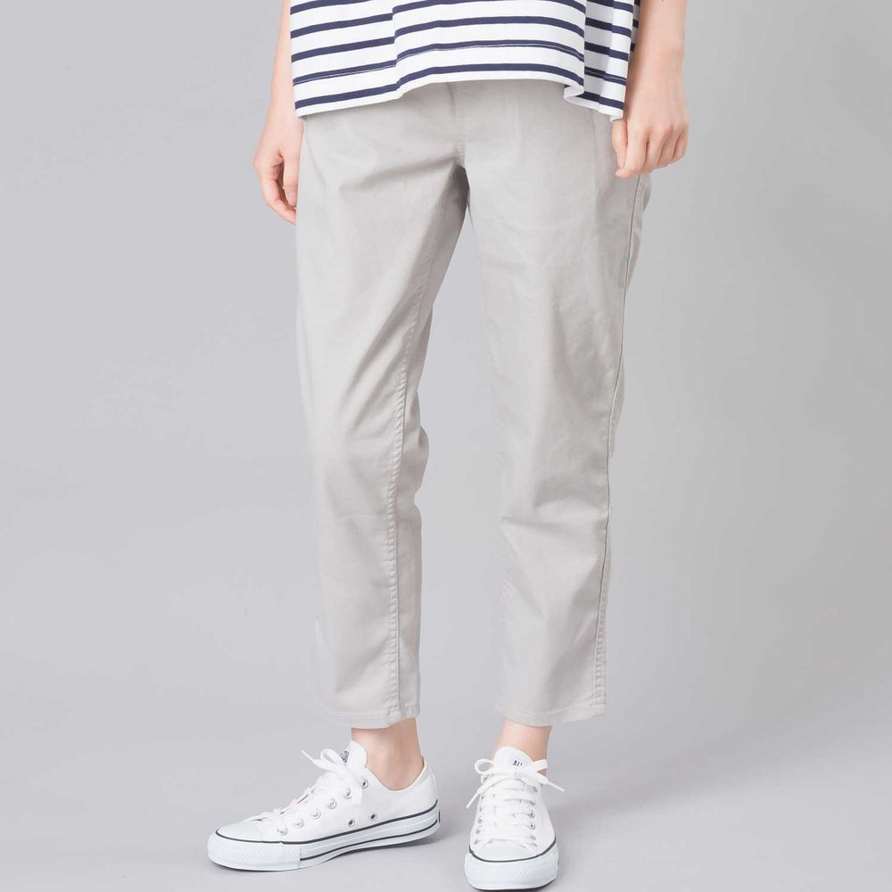 日本女裝代購 - 舒適彈力休閒褲 (全腰鬆緊)-氣質灰