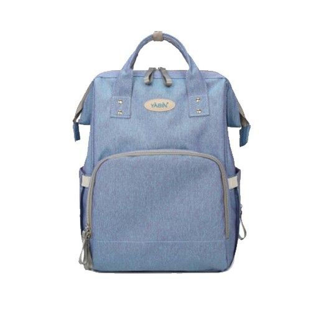 YABIN - 經典大開口媽媽後背包-淺藍色