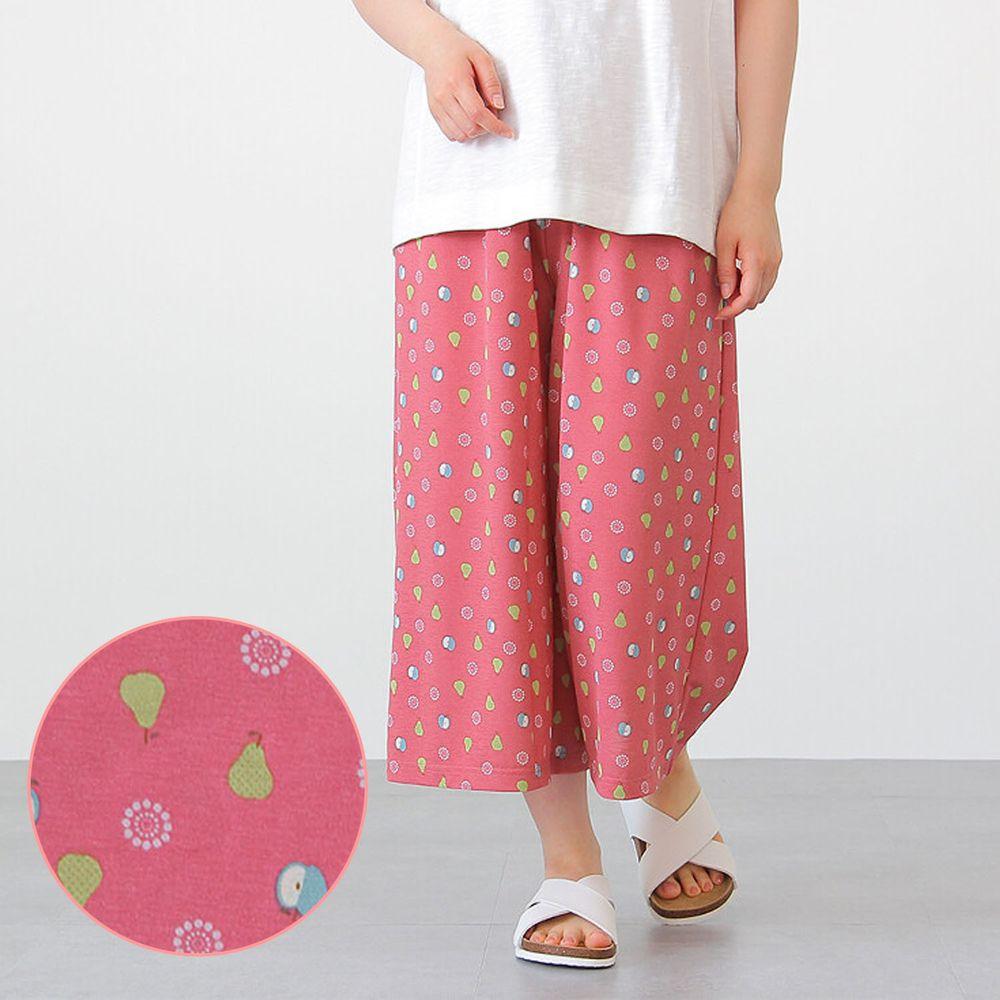 日本女裝代購 - DRY 涼爽快乾舒適家居長褲/睡褲-水果-粉 (M-L Free)