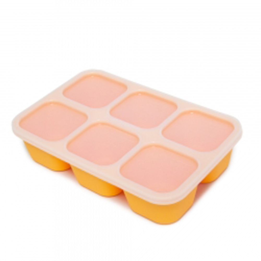 MARCUS&MARCUS - 動物樂園造型矽膠副食品分裝保存盒-黃色
