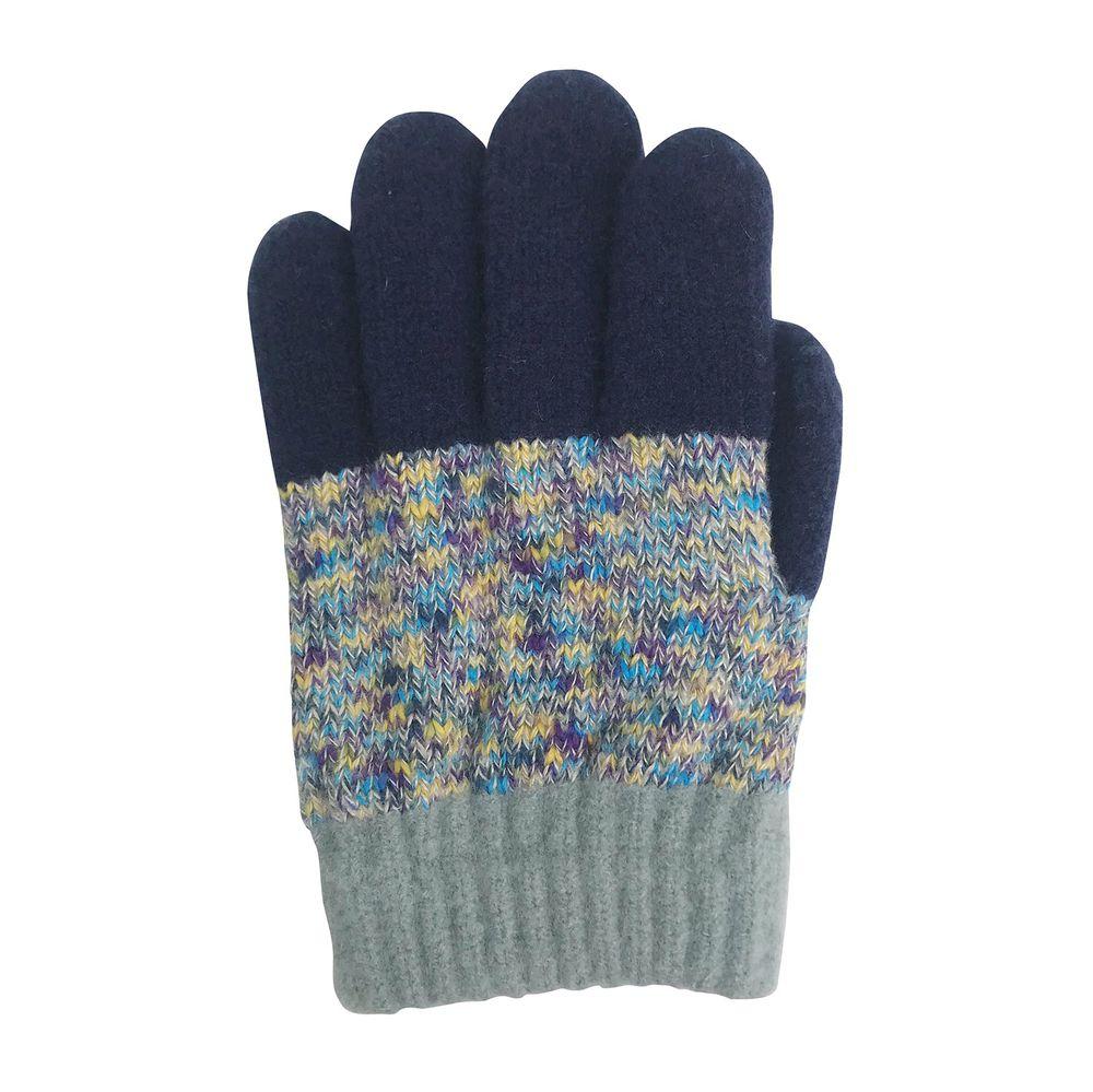 日本 BISQUE - 日本製質感小孩手套-彩色-藍色系 (5-10y)