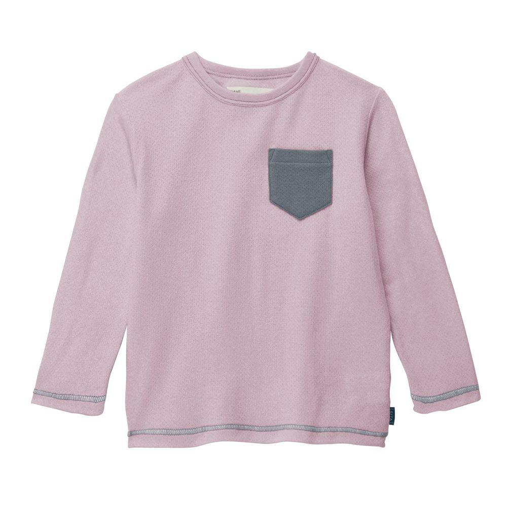 日本千趣會 - GITA 純棉輕薄舒適長T-口袋-紫