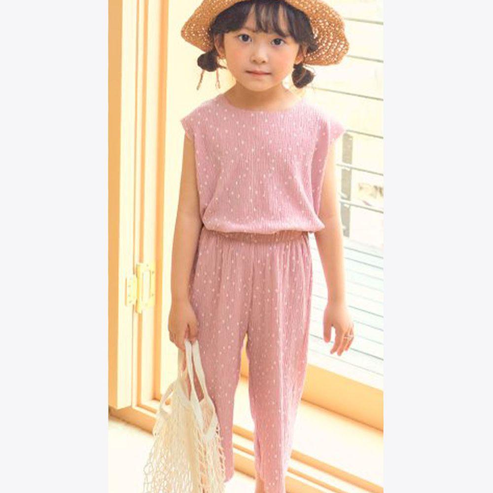 韓國 Hanab - 點點涼感套裝-粉紅