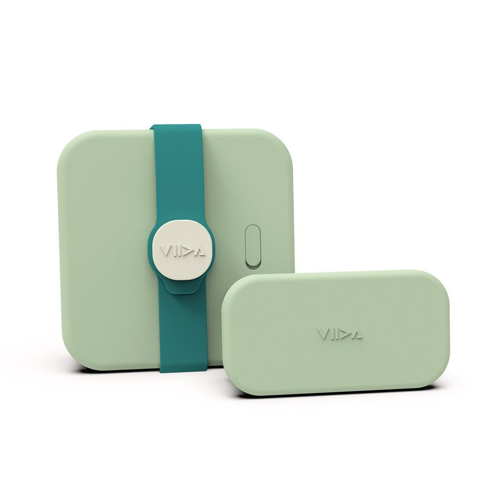 VIIDA - Kassie 便當盒-316不鏽鋼-綠 (700ml+220ml)