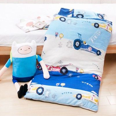 MIT純棉冬夏兩用兒童睡袋-越野賽車